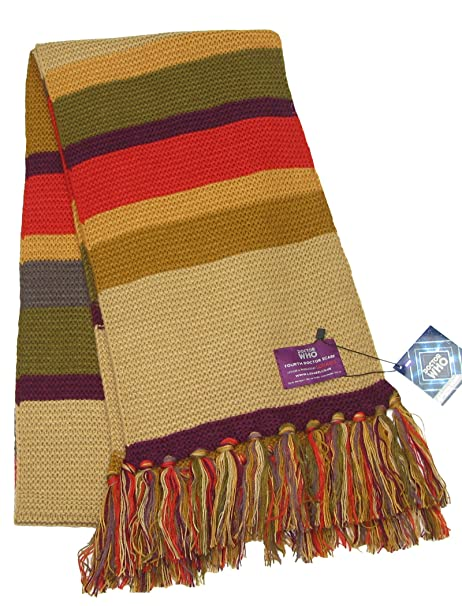 Amazon Dr Who Doctor Who Tom Baker Scarf In Short Length