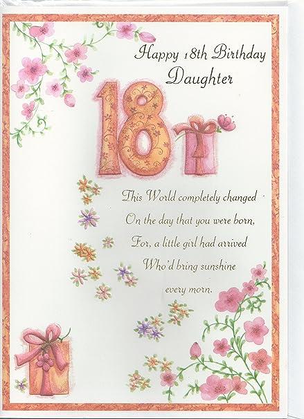 Happy 18th Birthday Daughter Card Amazon Kitchen Home