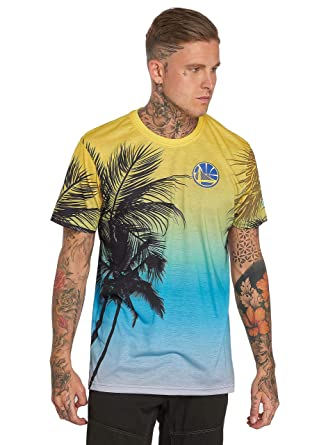 New Era Men Overwear T-Shirt NBA Coastal Heat Golden State Warriors   Amazon.co.uk  Clothing 4b98388d6