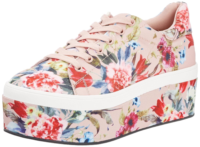 Buffalo 516-3903-2 Fabric Flower Print, Zapatillas para Mujer 38 EU|Multicolor (Multi 01)