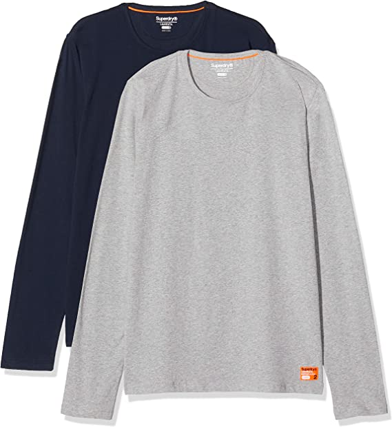 Superdry Laundry Slim Fit Ls Tee Double Pack T Shirt Homme