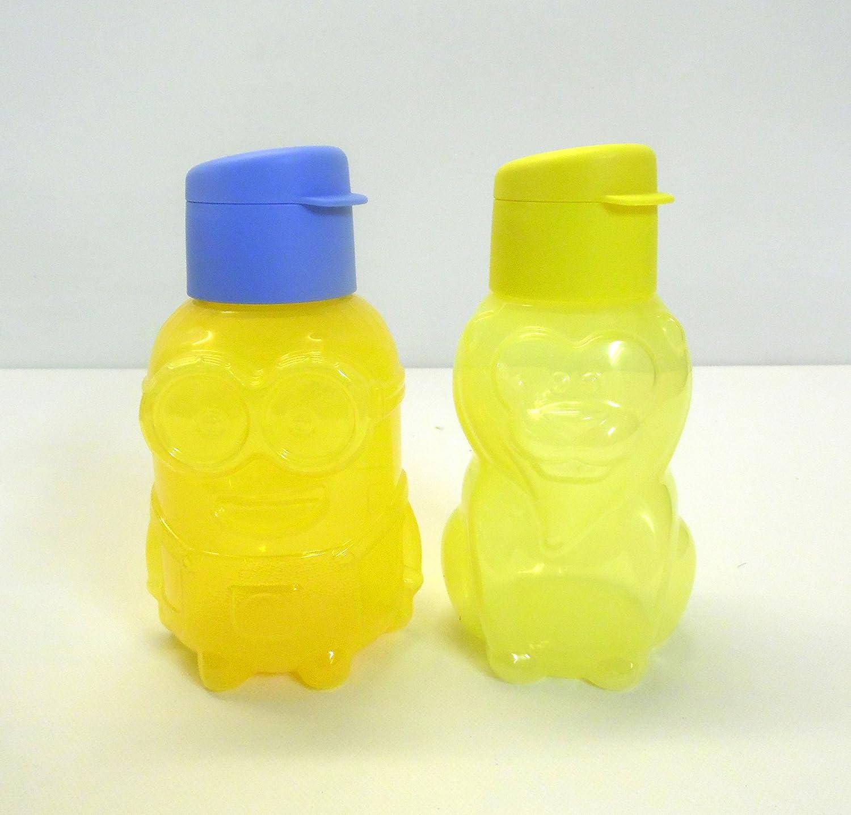 TUPPERWARE Kinder EcoEasy 350 ml B/är t/ürkis+L/öewe gelb Trinkflasche Eco /Ökoflasche 2