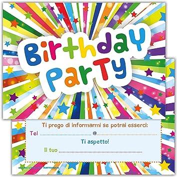 spesso Set di 12 inviti Compleanno Biglietti invito per Festa Compleanno OY41