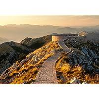 wandmotiv24 Fotobehang Bergen Bergketen Montenegro XS 150 x 105 cm - 3 delen Fotobehang, muurschildering, motiefbehang…