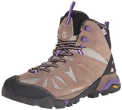Merrell Women's Capra Mid Waterproof Hiking Boot, Taupe, ...