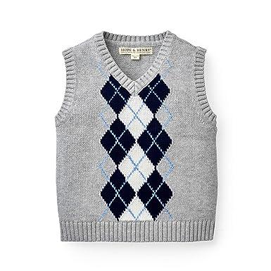 b9728e02b Amazon.com  Hope   Henry Boys V-Neck Sweater Vest  Clothing