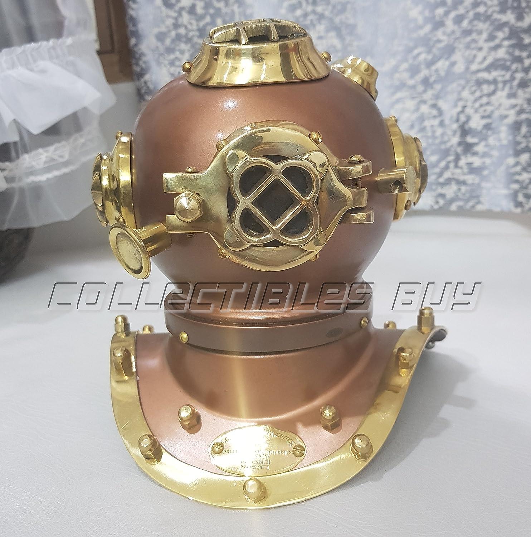 Mark Iv US Navy Mini Diving Helmet Deep Sea Divers Helmet Brass 6/'/' Table Deco