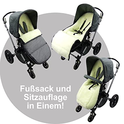 Bambini World Footmuff Suitable For Bugaboo Cameleon Seat Cover With Lambswool Winterfußsak Marine Baby