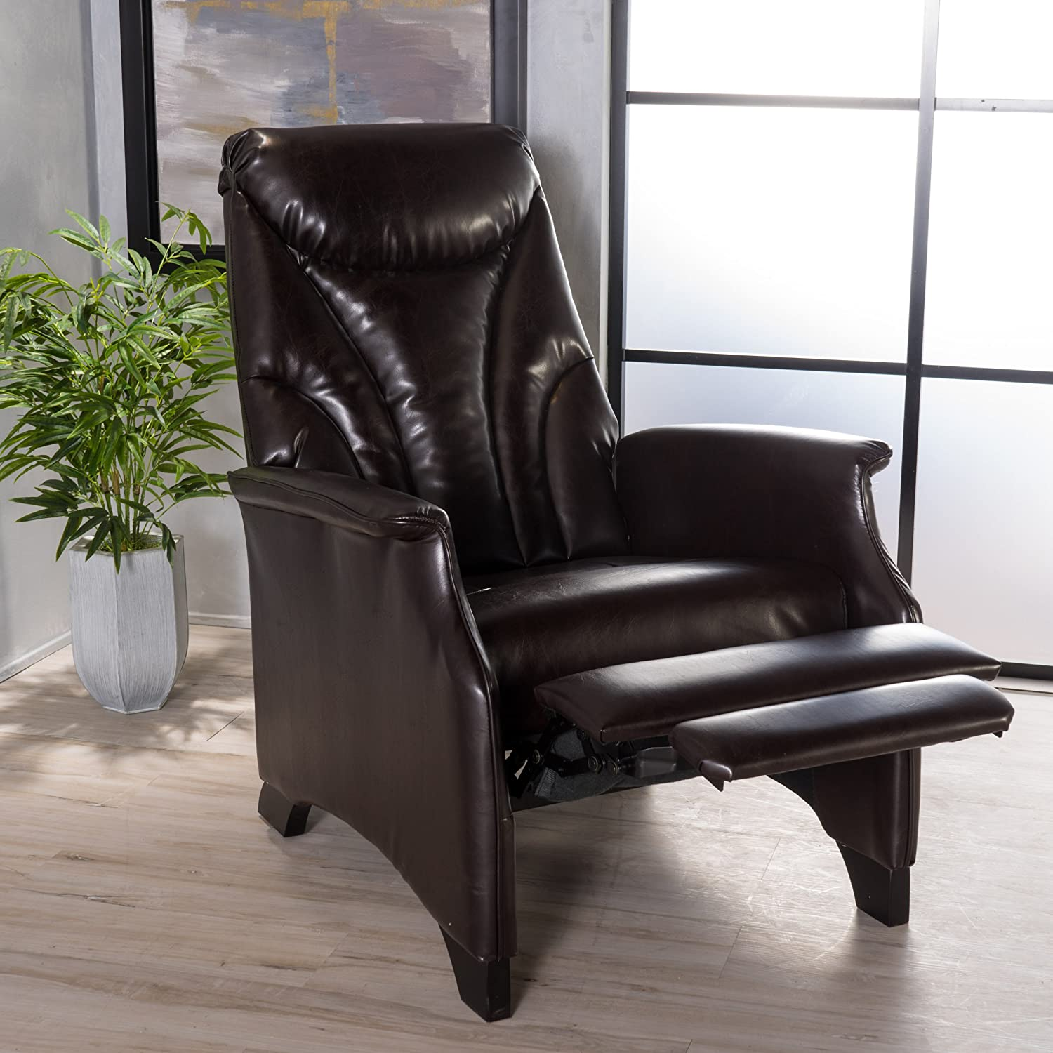 Avery Brown Leather Recliner