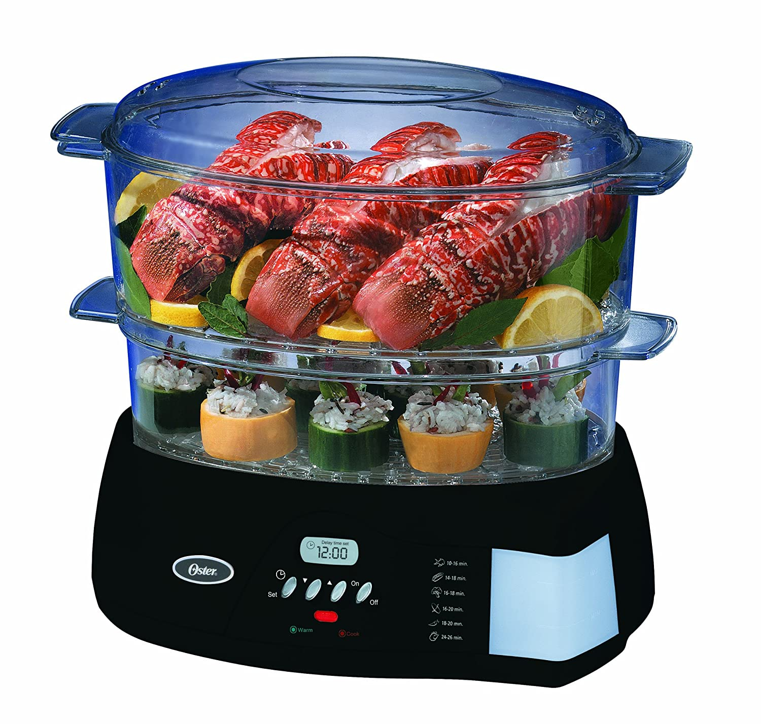 Oster 5716 Programmable Digital Food Steamer, Black