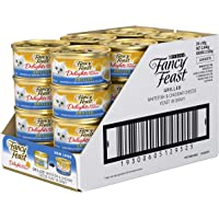 Fancy Feast Delights with Cheddar Whitefish Wet Cat Food, Adult, 24x85g