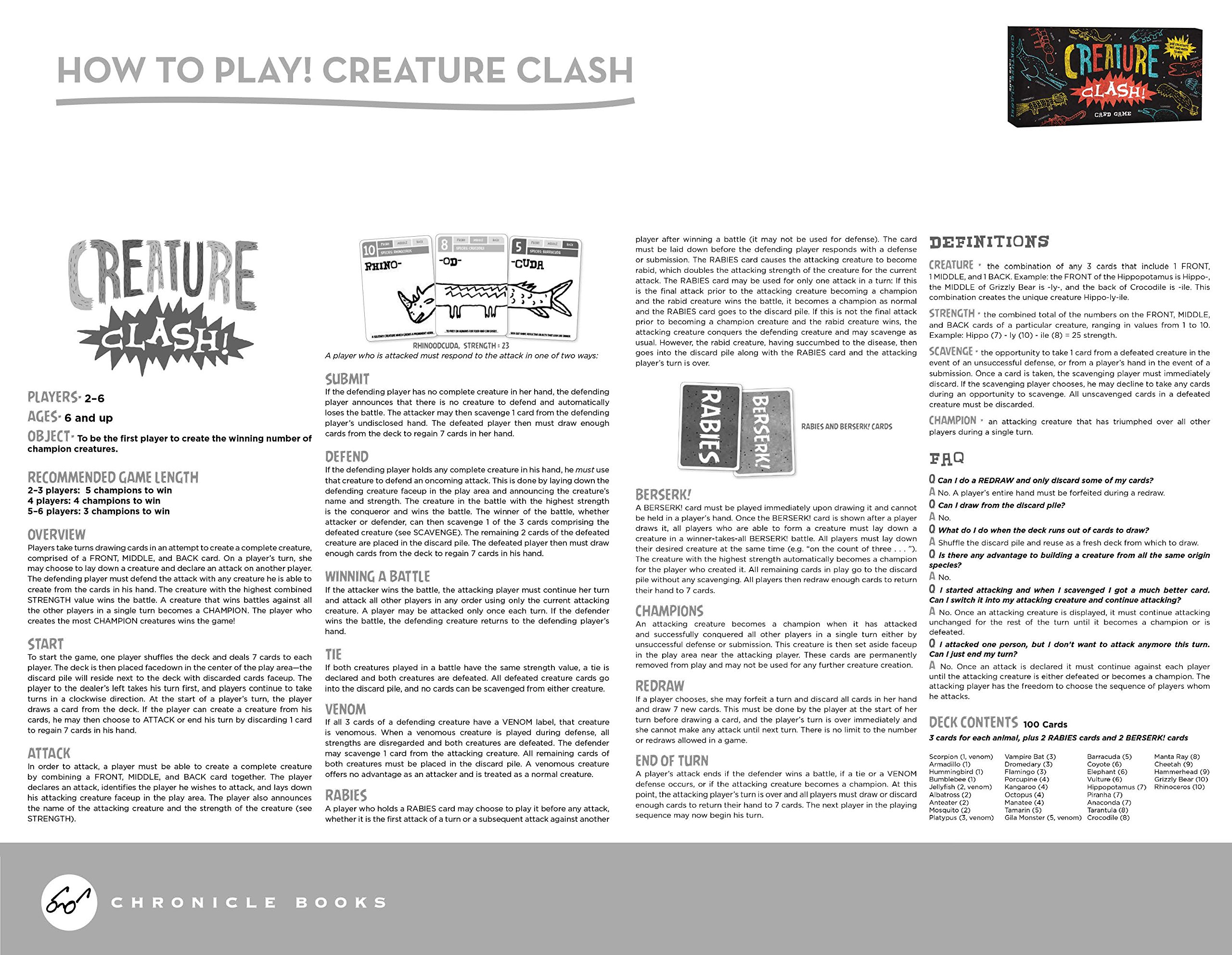 Creature Clash Card Game Angie Panian Tyler Panian