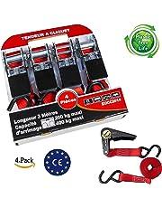 Blu 4 PCS Cinghie di Fissaggio con Chiusura A Morsetto TIMESETL Cinghie Fissaggio Cinghia di Fissaggio Cinghie di Tensione con cricchetto 2.5 cm x 5 m