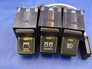 Jeep TJ Rocker Switch 3 Switch Kit- Roof Lights, Light Logo, Spotters 3 Pack with Pig Tails