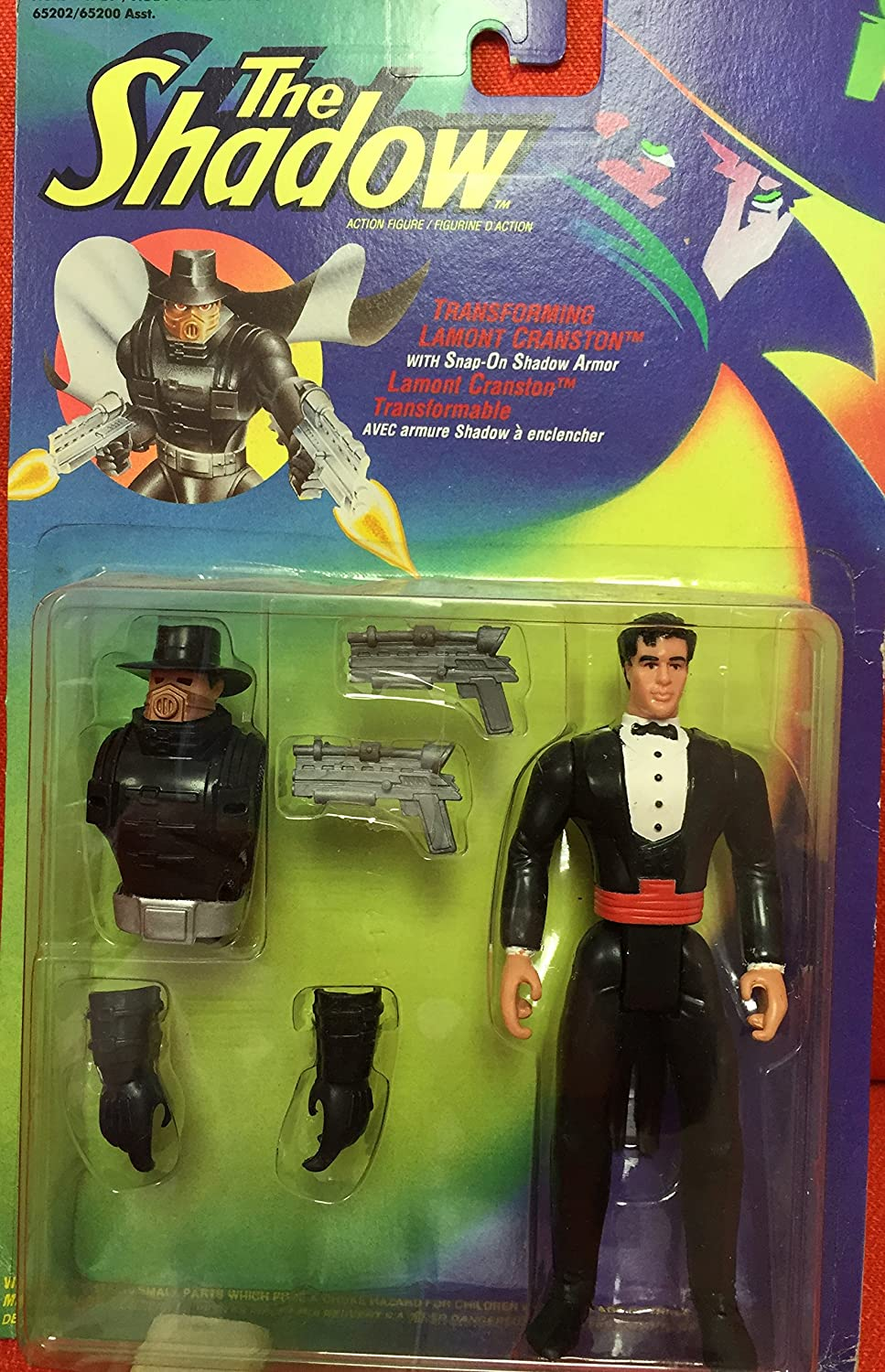 The Shadow Transforming Lamont Cranston Action Figure by Kenner (English Manual)