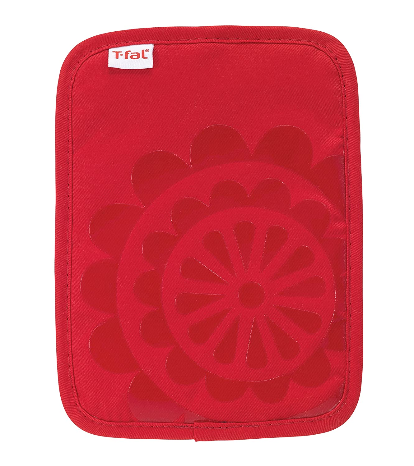 T-fal Textiles Silicone Printed Medallion 100% Cotton Twill Hot Pad Pot Holders, 9-inches x 6.75-inches, Set of 2, Blue John Ritzenthaler Company 97160