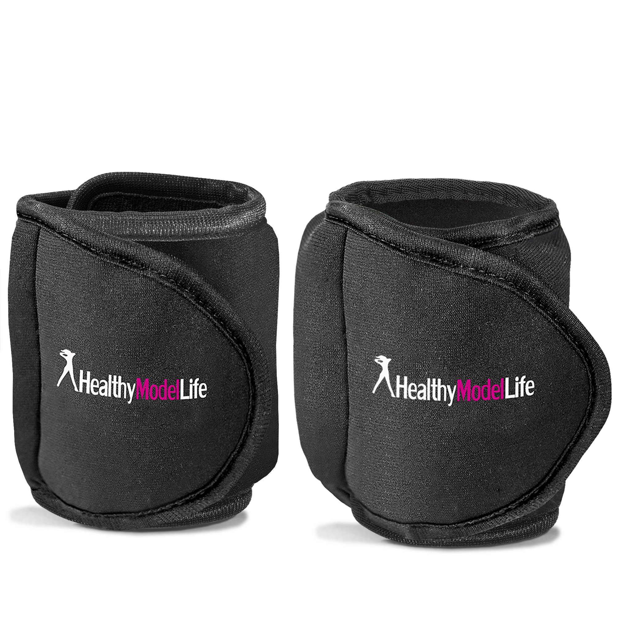 HEALTHYMODELLIFE Ankle Weights Set by Healthy Model Life (2 x 8lbs Cuffs) - 16lbs in Total