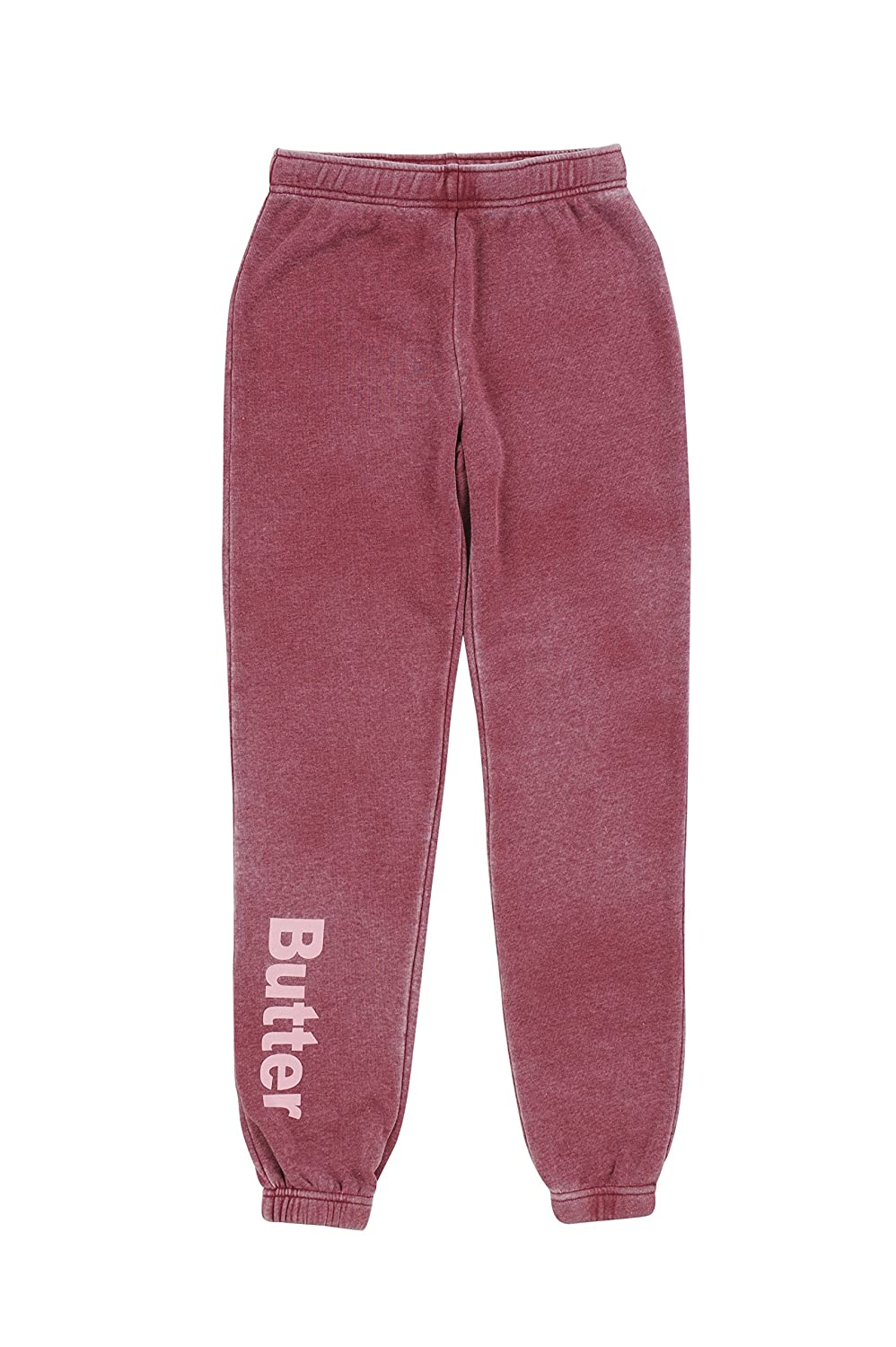 BUTTER SUPER SOFT Girl's Fleece Jogger Sweatpants Elastic Waist and Cuffs