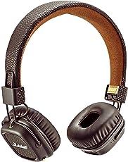 Marshall Major II Bluetooth Diadema Biauricular Alámbrico/Inalámbrico Café Auricular para móvil - Auriculares (Inalámbrico y alámbrico, Diadema, Biauricular, Supraaural, 20-20000 Hz, Café)