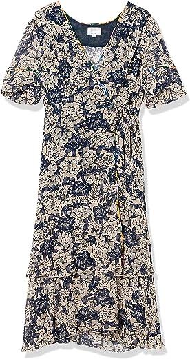 لوف آند ليبرتي فستان لف مطبوع مختلط للنساء