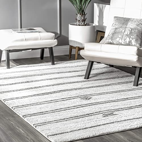nuLOOM Sammy Contemporary Area Rug, 7 10 x 9 10 , Ivory