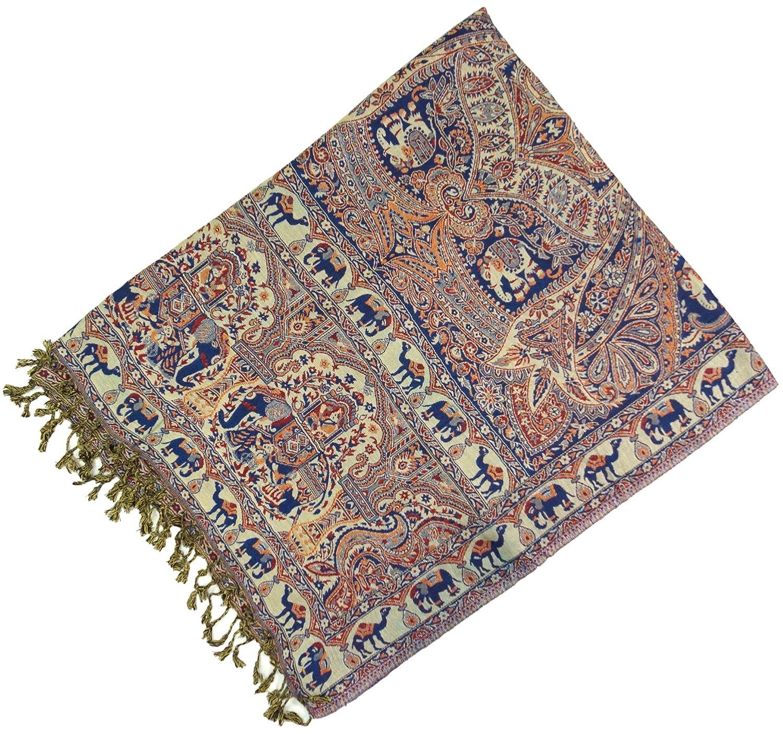 Dimensione Indumenti:One Size Stola Boho con Motivo Paislay Sintetico Sciarpa Indiana in Pashmina GURU-SHOP Blu Sciarpe Sciarpa Sciarpa