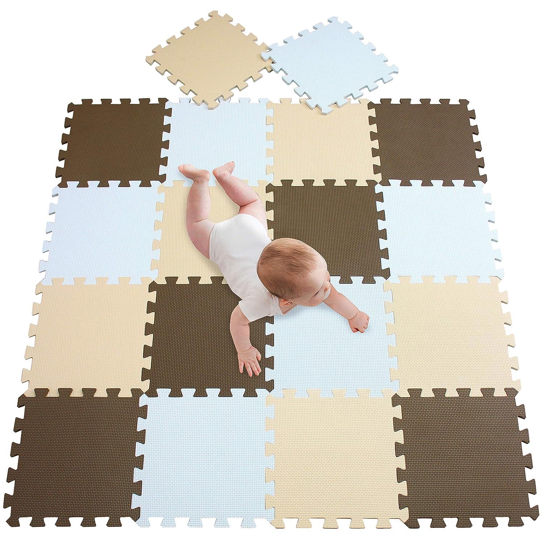 Non-Toxic Interlocking Floor Tiles Soft Foam Baby Play Mat Extra Thick