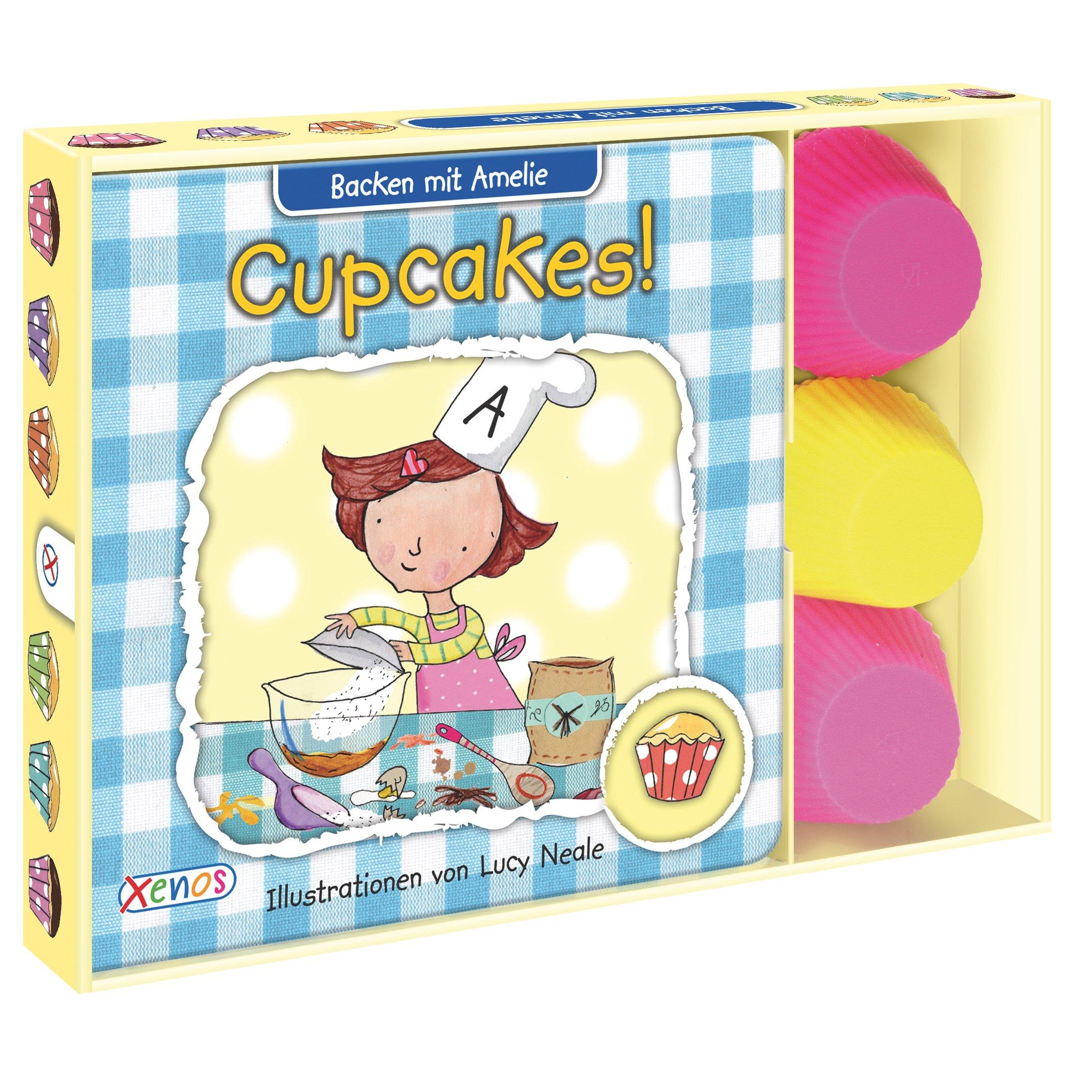 Wir backen Cupcakes!: Mit 6 Cupcake-Förmchen aus Silikon. (Backen mit Amelie)