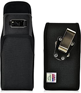 product image for Turtleback Belt Clip Case Made for Samsung Galaxy S8 with Otterbox Commuter Case Black Vertical Holster Nylon Pouch with Heavy Duty Rotating Belt Clip Made in USA
