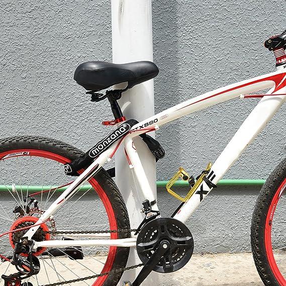 FAHRRADSCHLOSS Fahrrad Schloss Zahlenschloss Motorradschloss 120 cm 3 Farben
