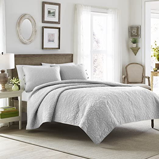 Blue, Laura Ashley Saltwater 5-Piece Daybed Cover Set