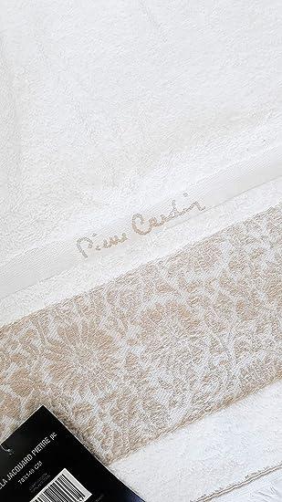 Pierre Cardin - Toallas de baño/baño 70 x 140 con Bordado Color Blanca: Amazon.es: Hogar