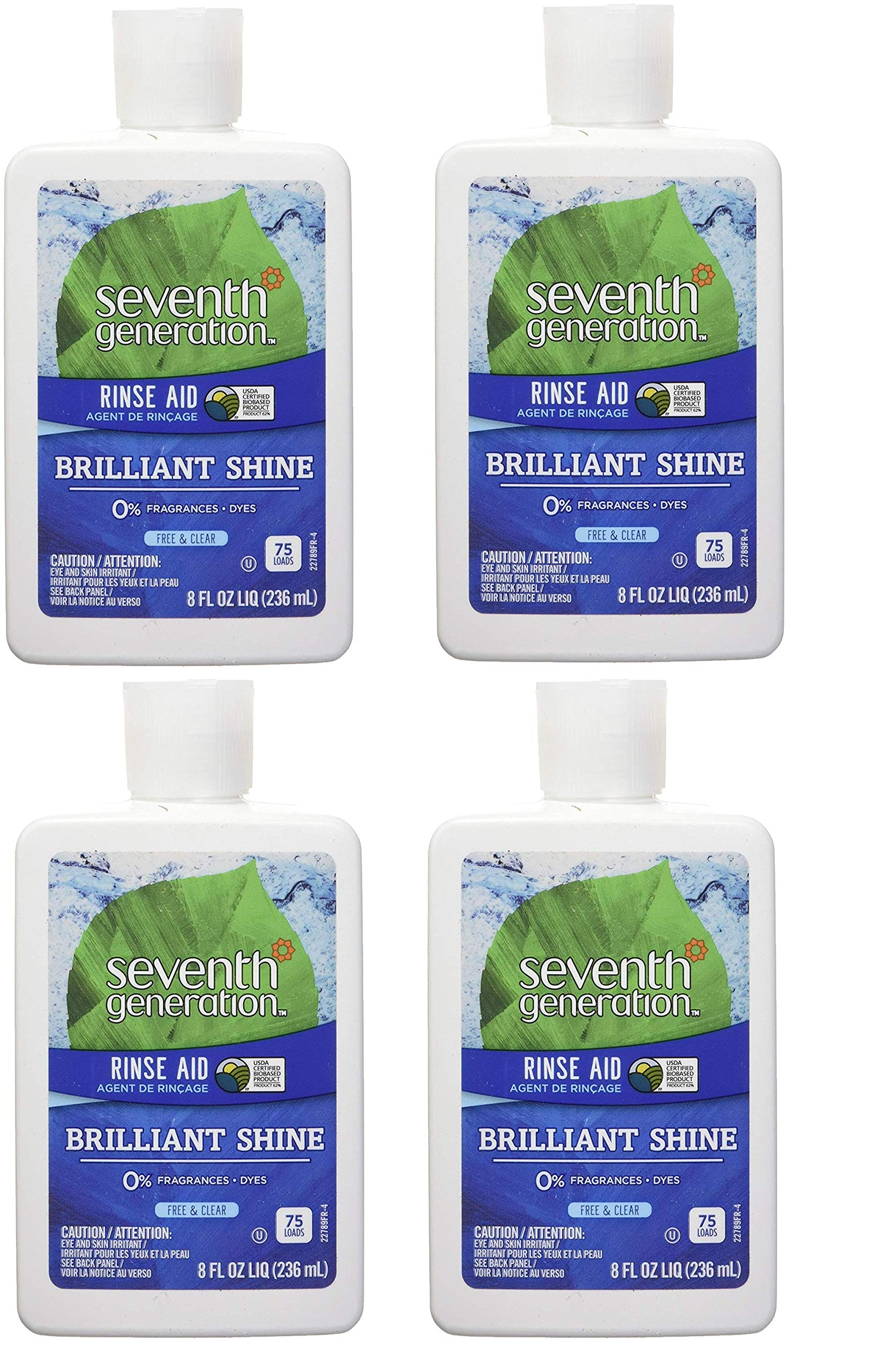 Seventh Generation Rinse Aid Free & Clear, 8 oz (4 pack)
