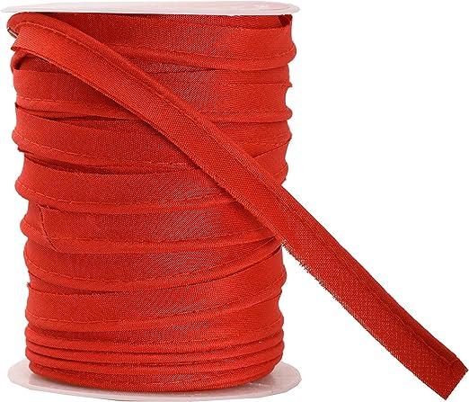 Mandala Crafts Maxi ribete de ribetes, cinta al bies de un solo pliegue, cordón de soldadura de algodón y poliéster para costura, recorte, tapicería (rojo, 2,5 mm, 55 yardas) (renovado): Amazon.es: Hogar