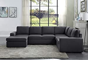 Lilola Home Warren Sectional Sofa with Reversible Chaise