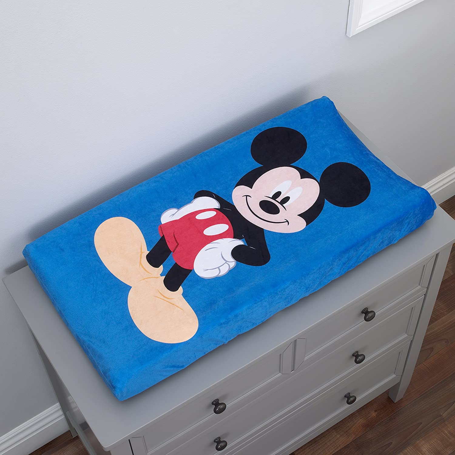 Pink Dinsey Minnie Changing Pad Cover Blue Crown Crafts Inc 2590356 Black