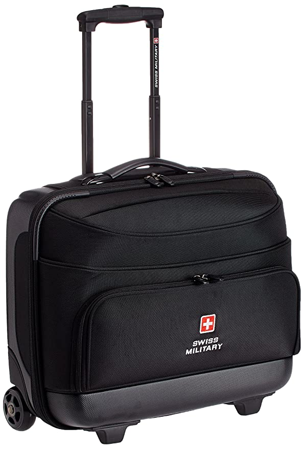 ede521ea9 Swiss Military 45 Ltrs Black Laptop Trolley Bag (LTB-2): Amazon.in: Bags,  Wallets & Luggage