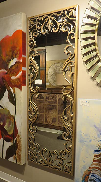 Well known Amazon.com: Baroque Oversize Gold Scroll Wall Mirror | Extra Large  ZP41
