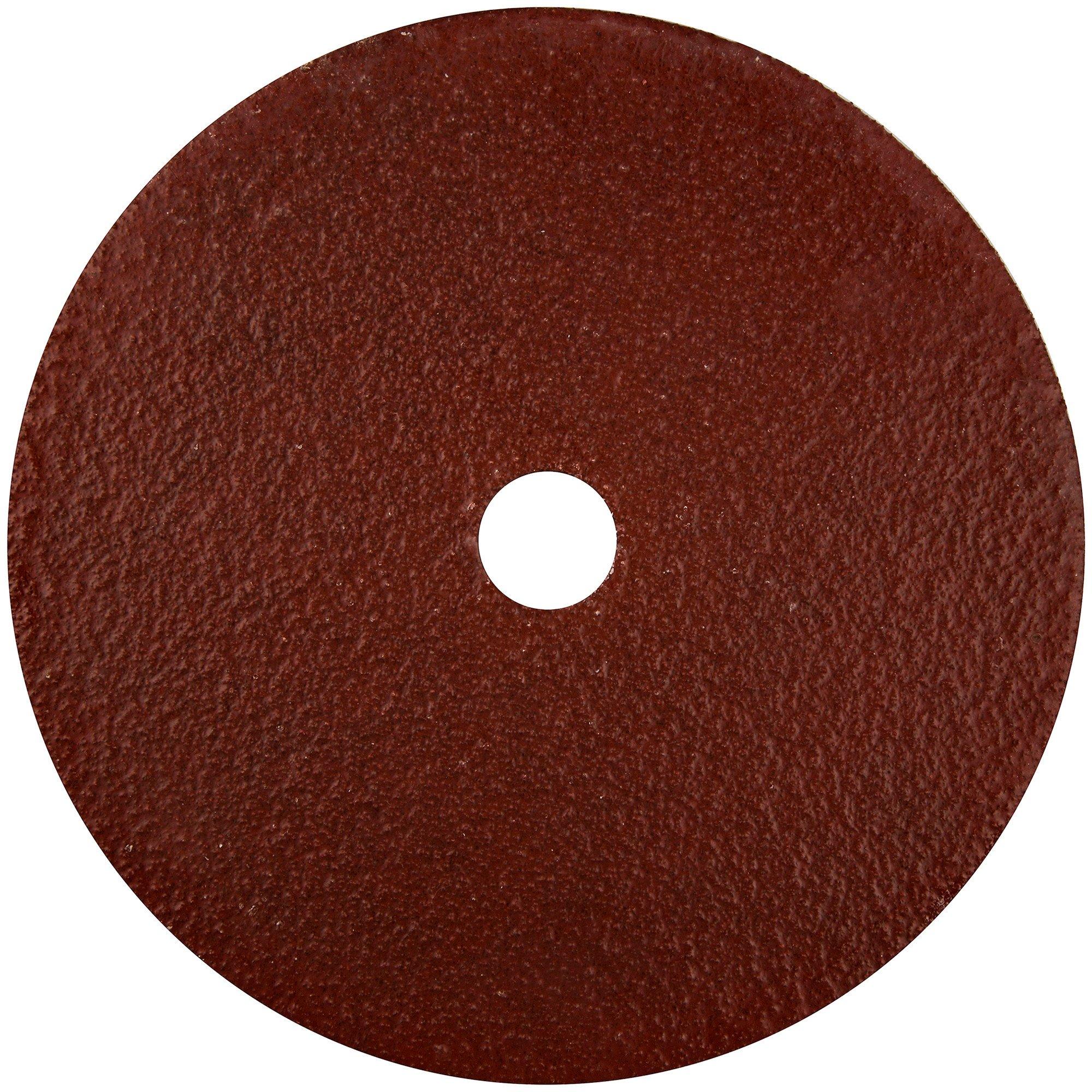 Norton Gemini Metalite F220 Abrasive Disc, Fiber Backing, Aluminum Oxide, 7/8'' Arbor, 7'' Diameter, Grit 60 (Pack of 25)