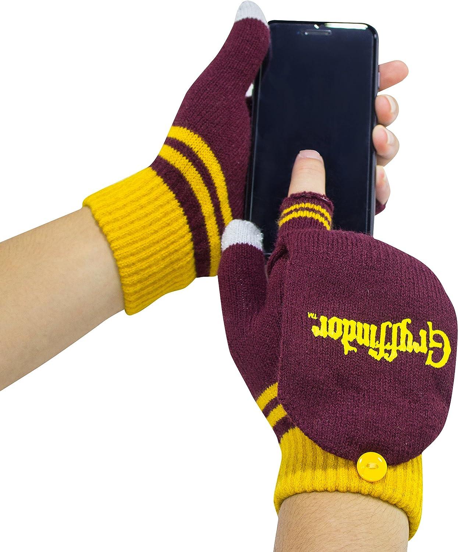 Cinereplicas - Harry Potter - Guantes - Mitones Removibles - Mitones de Pantalla táctil - Licencia Oficial - Casa Gryffindor - Rojo y Amarillo