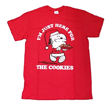 Amazon.com: Peanuts Snoopy I'm Just Here for the Cookies Graphic T ...