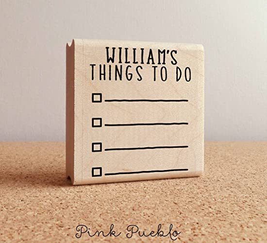 amazon com personalized planner stamp personalized to do list