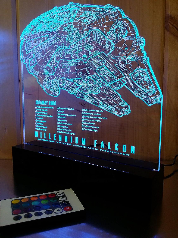 Star Wars Millennium Falcon Light Lamp Cutaway Guide