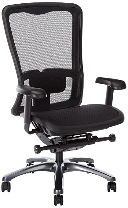 Gentil Amazon.com: Office Star High Back Breathable ProGrid Back And Seat  Adjustable Black Managers Chair, Gunmetal Finish: Kitchen U0026 Dining