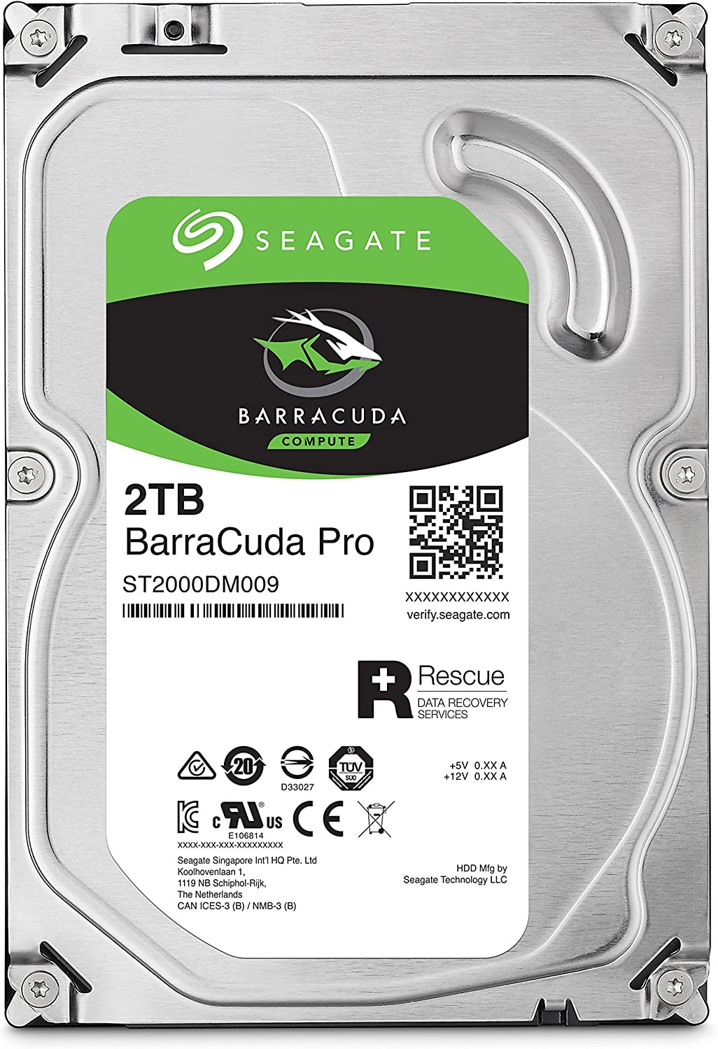 Seagate Barracuda Pro SATA HDD 2TB 7200RPM 6Gb/s 256MB Cache 3.5-Inch Internal Hard Drive for PC/Desktop Computers System