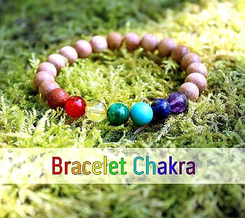 Pulsera 7 chakras para mujer, piedras naturales y cuentas de ...