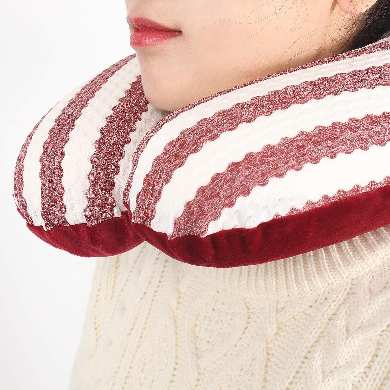 Red Neck Pillow Sleepymoon Classic U-Shape Memory Foam Travel Pillow