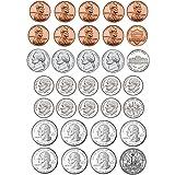 Ashley Productions ASH10067BN Math Die-Cut Magnets, U.S. Coins, 33 Pieces Per Pack, 6 Packs