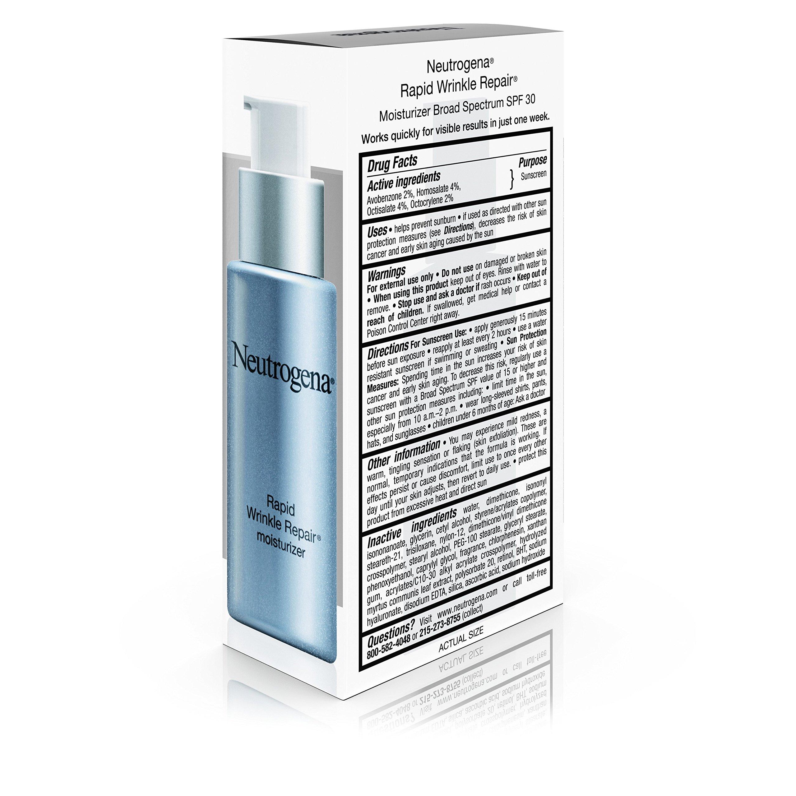 Neutrogena Rapid Wrinkle Repair Anti-Wrinkle Retinol Daily Face Moisturizer, with SPF 30 Sunscreen, 1 fl. Oz by Neutrogena (Image #7)