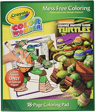 Amazon.com: Crayola Color Wonder Coloring Pad, Teenage Mutant ...